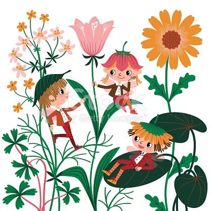 Flowers Elves stock vector art 164544321.