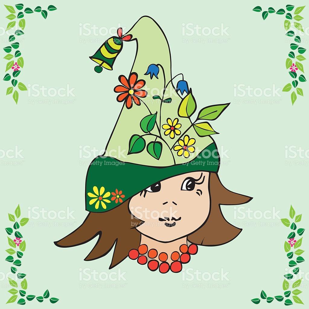 Flower Elf With Hat stock vector art 487634890.