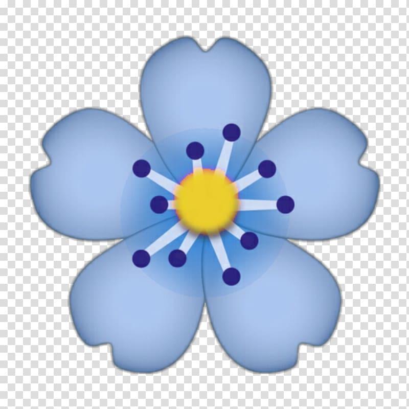 Emoji iPhone Flower Sticker, Emoji transparent background.