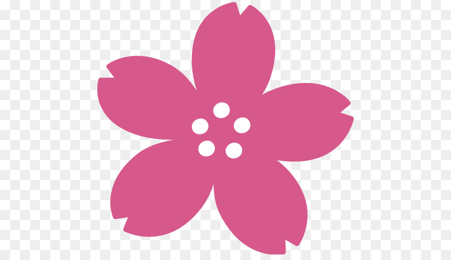 Iphone Flower Emoji png download.