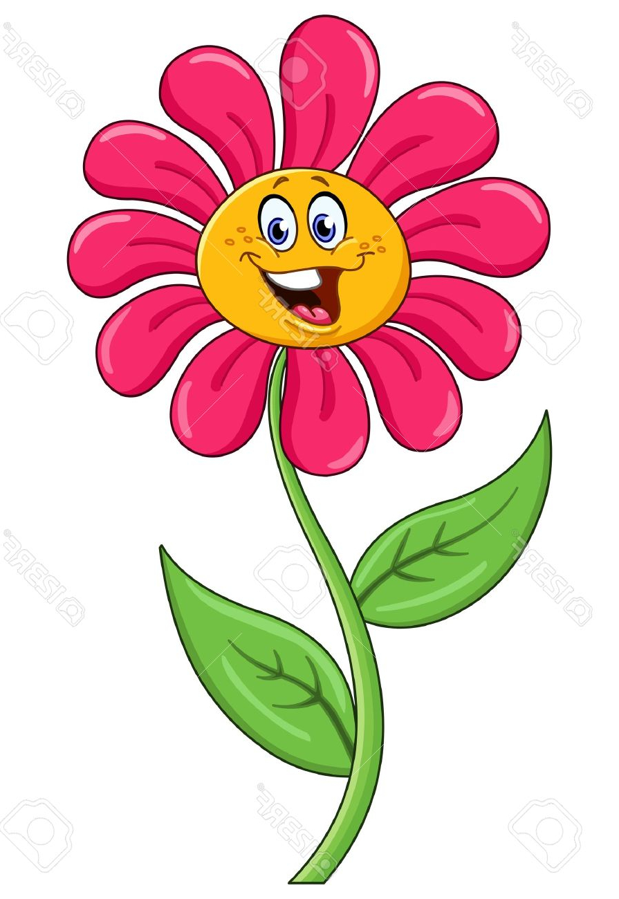 Cartoon Flowers With Faces Flower Face Clipart.