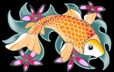 Colorful Koi Fish Drawings.