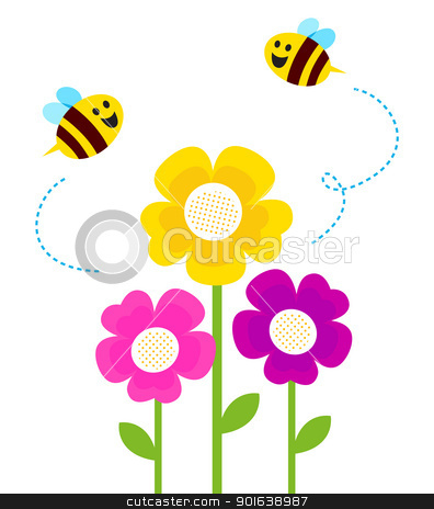Fly On Flower Clip Art.