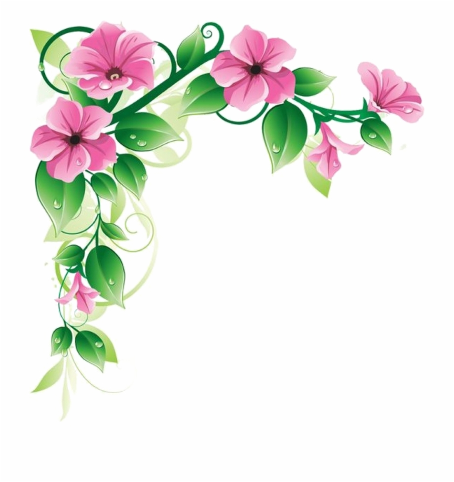 Flowers Frame Transparent Png Clipart Free Download.