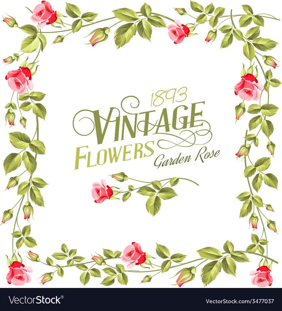 Vintage flower frame.