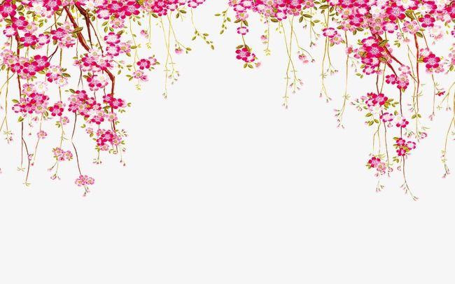 Flower Border, Flowers, Border PNG Transparent Clipart Image.