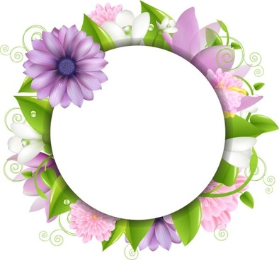 Pink flower border free vector download (17,436 Free vector.