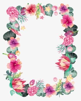 Flower Frame PNG, Transparent Flower Frame PNG Image Free Download.
