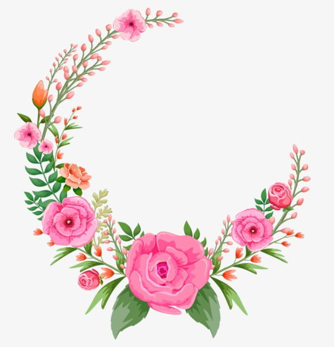 Pink Flowers Frame PNG, Clipart, Flowers, Flowers Clipart, Frame.