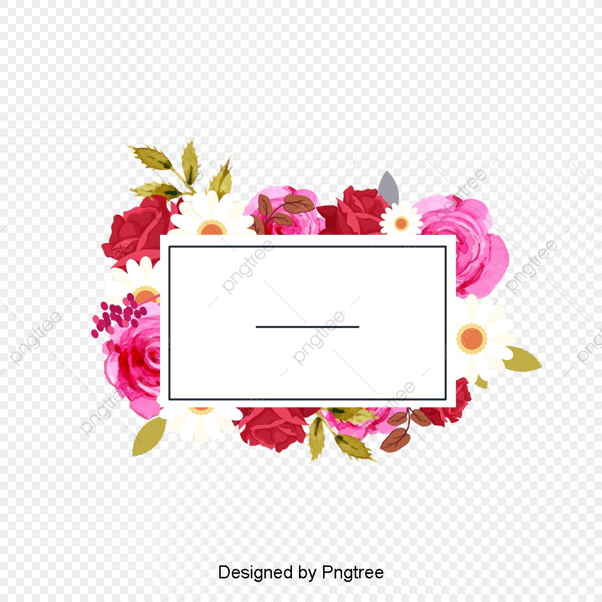 Flower Frame, Flower, Frame PNG Transparent Clipart Image and PSD.