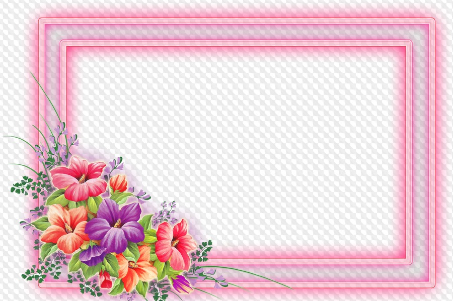 Flower Frames PNG, download.