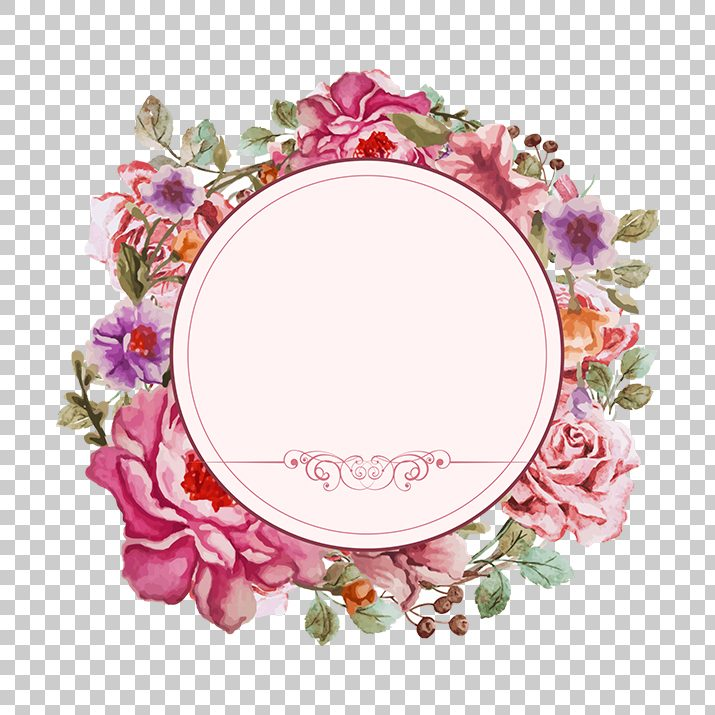 Wedding Flower Frame PNG Image Free Download searchpng.com.