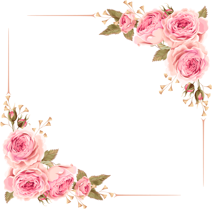 HD Flower Border Clipart Frame Png Free.