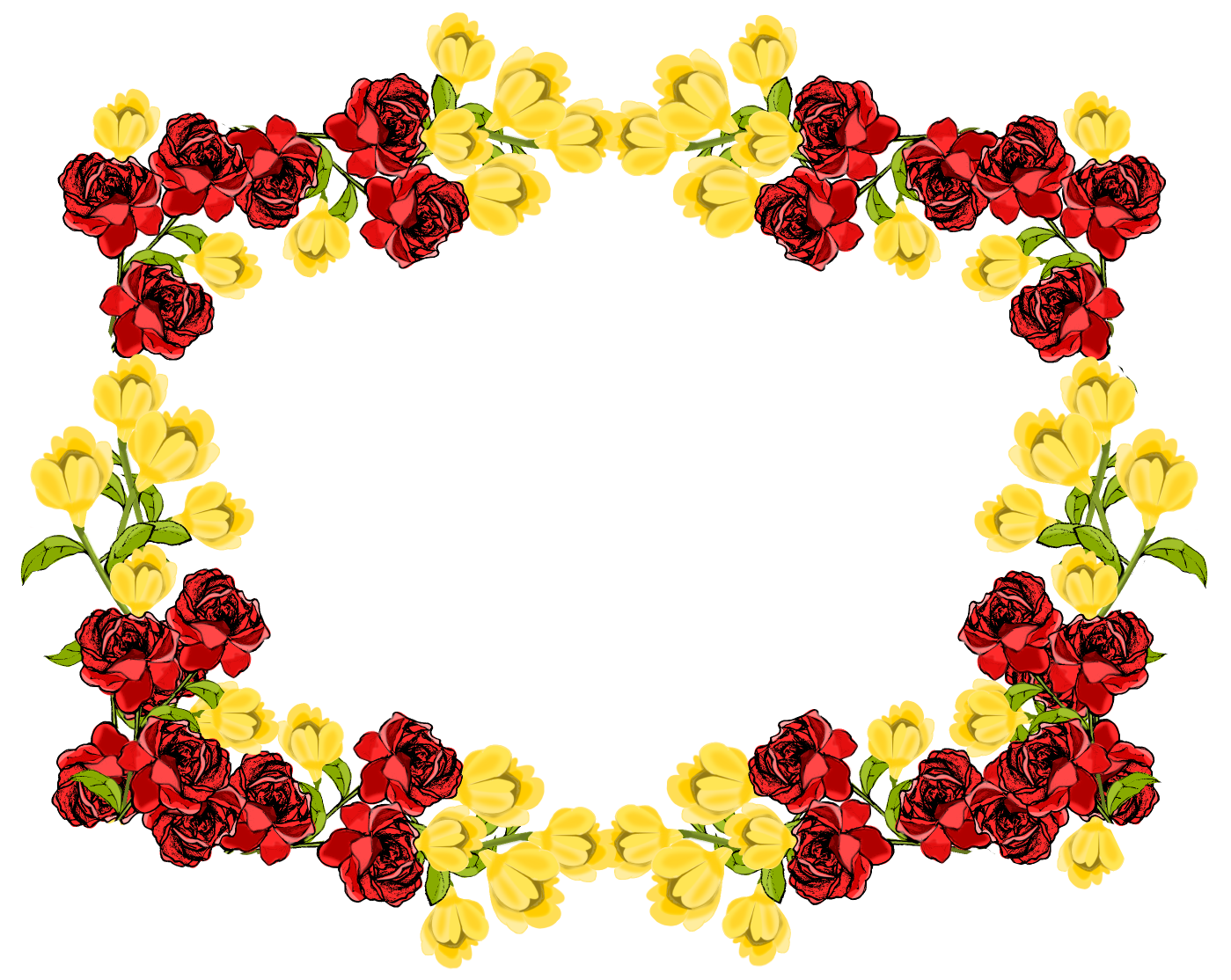 Flower Frame PNG Images Transparent Free Download.