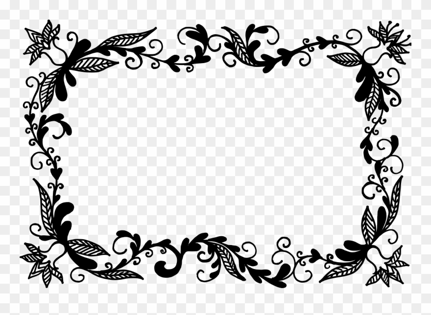 Vector Frame Clipart Floral.