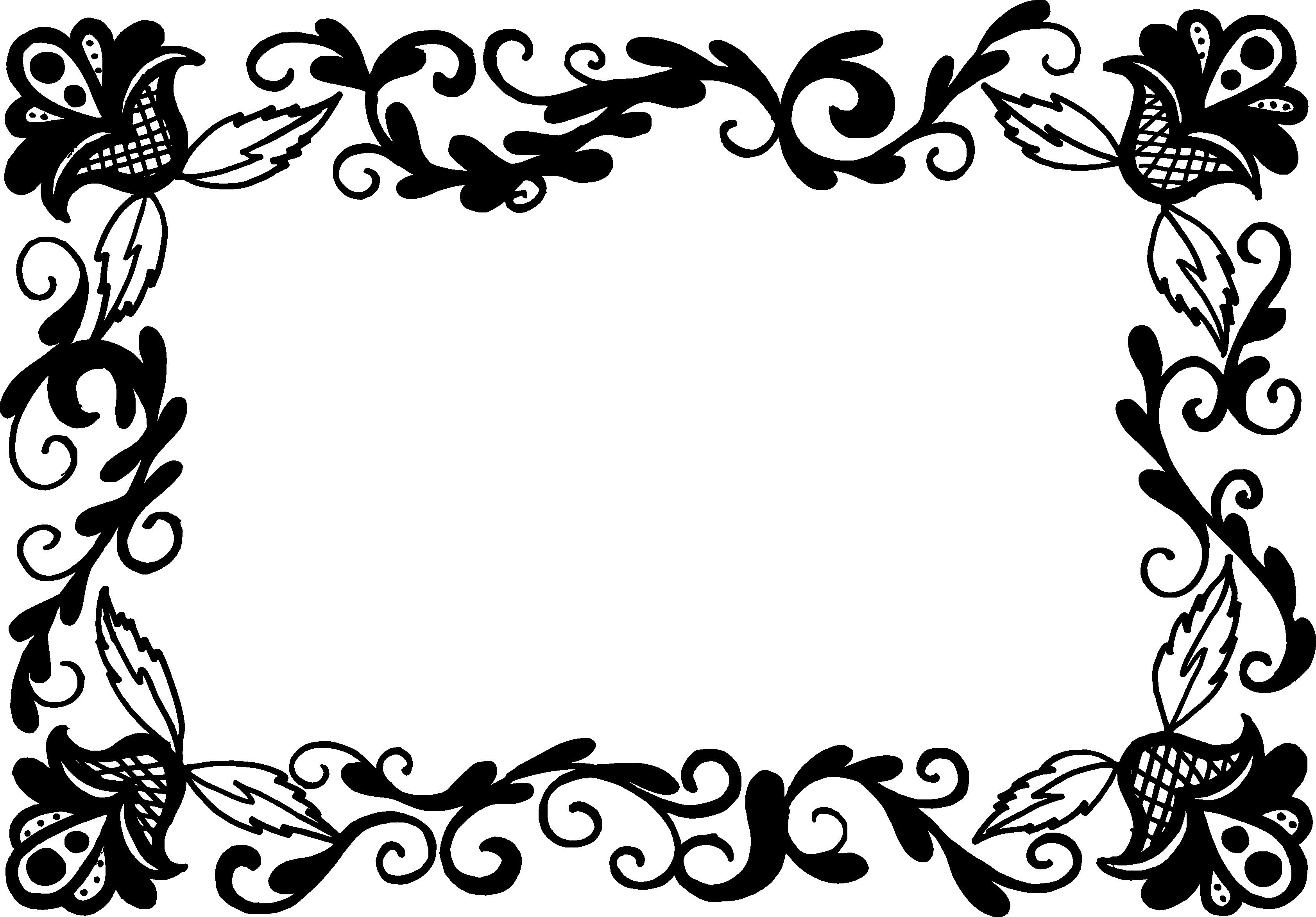 9 Rectangle Flower Frame Vector (PNG Transparent, SVG) Vol. 2.