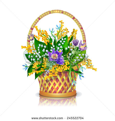 May Basket Stock Vectors, Images & Vector Art.