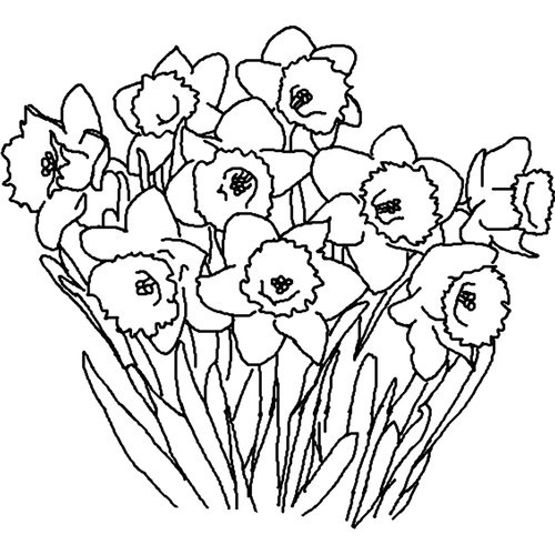Free Flower Garden Clipart Black And White, Download Free.