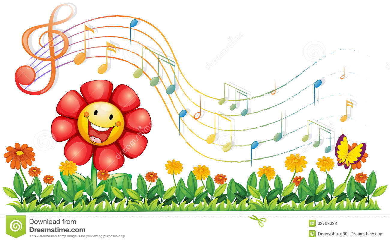 music notes backgrounds floral - photo #31