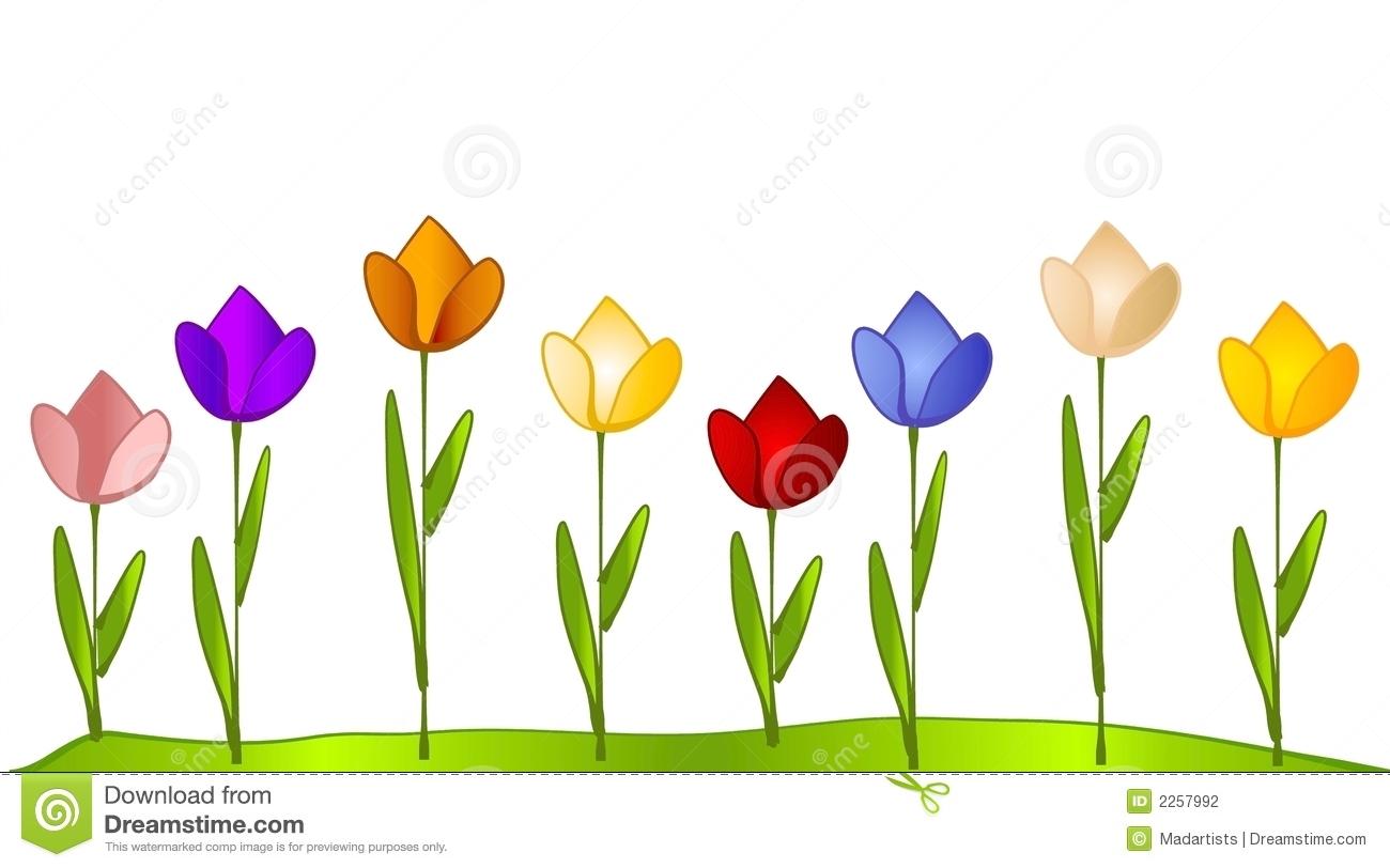 Flower garden clipart same color.