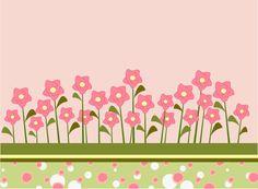 Cute flower garden clipart.