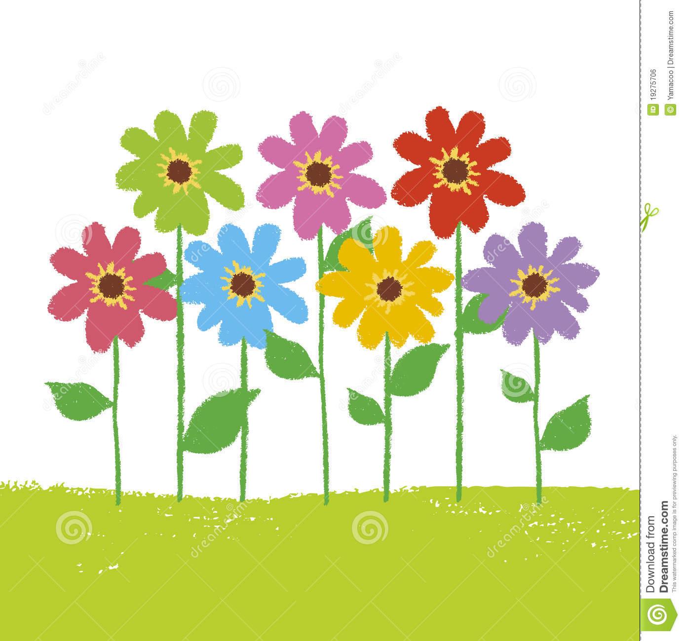 Flower Garden Free Clipart.