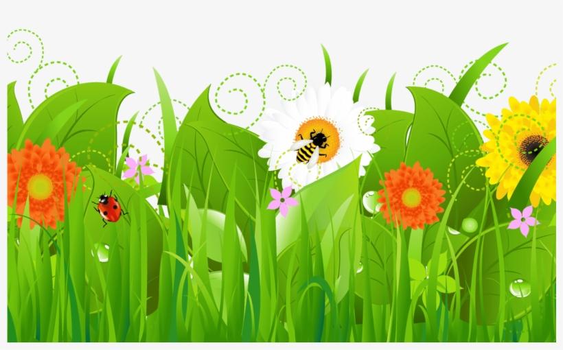 Spring Flower Border Clip Art Gardening Flower And.
