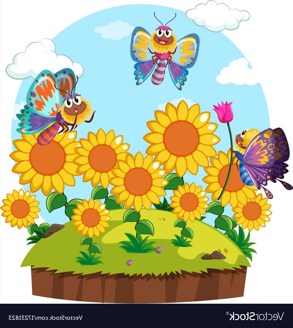 HD Flower Garden Clip Art Vector Cdr » Free Vector Art, Images.