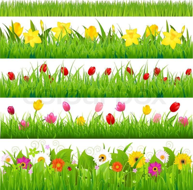 Flower Borders Set.