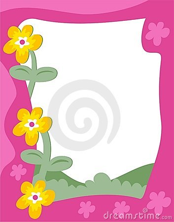 Funky Flowers Frame Stock Image.