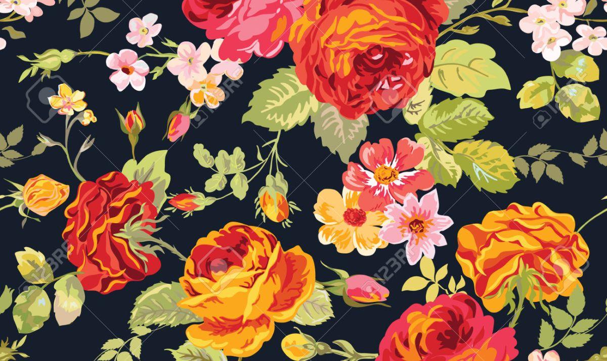 Flower Garden Print Border Clipart Clipartfest.