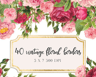 rose clipart flower clipart vintage rose clip art 9 high res png.