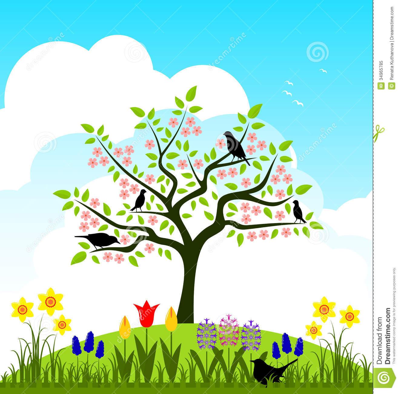 Garden Art Plus: Spring Garden Clipart