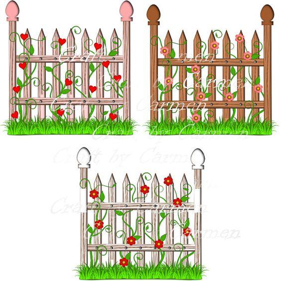 Clipart flower gardens.