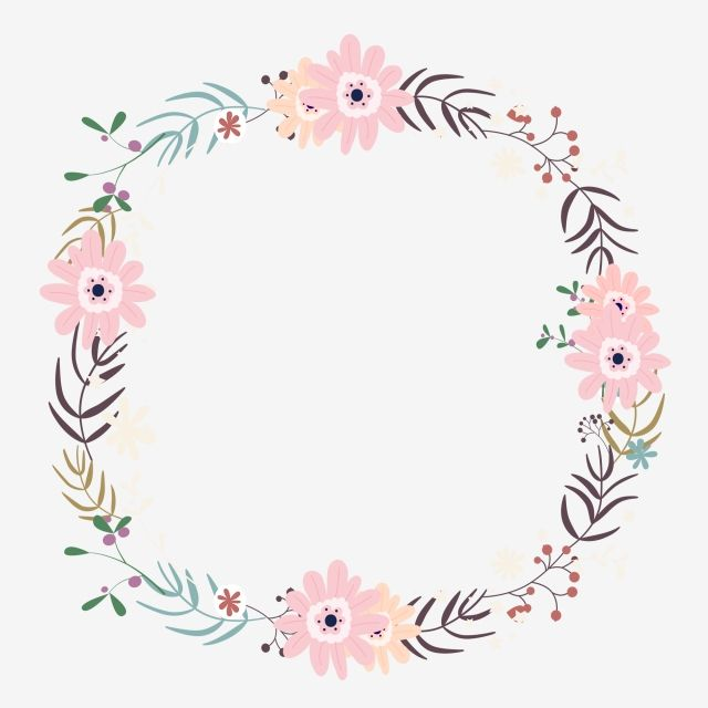 Simple Flower Garland, Flower Clipart, Color, Flowers PNG.