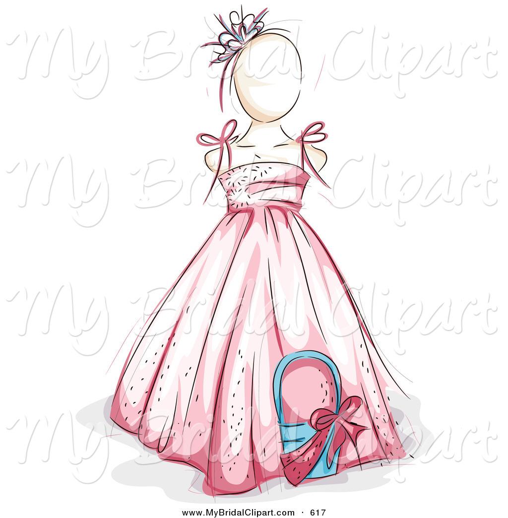 Wedding flower girl clipart.