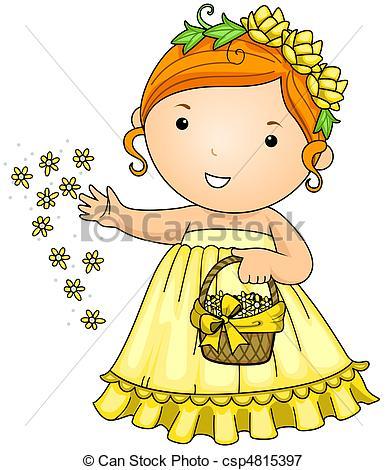Flower girl Stock Illustrations. 36,763 Flower girl clip art.