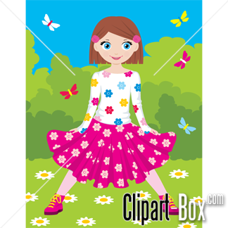 CLIPART COUNTRY GIRL.