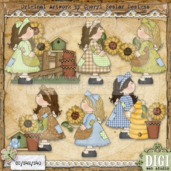 Patchwork Sunflower Girls 1.