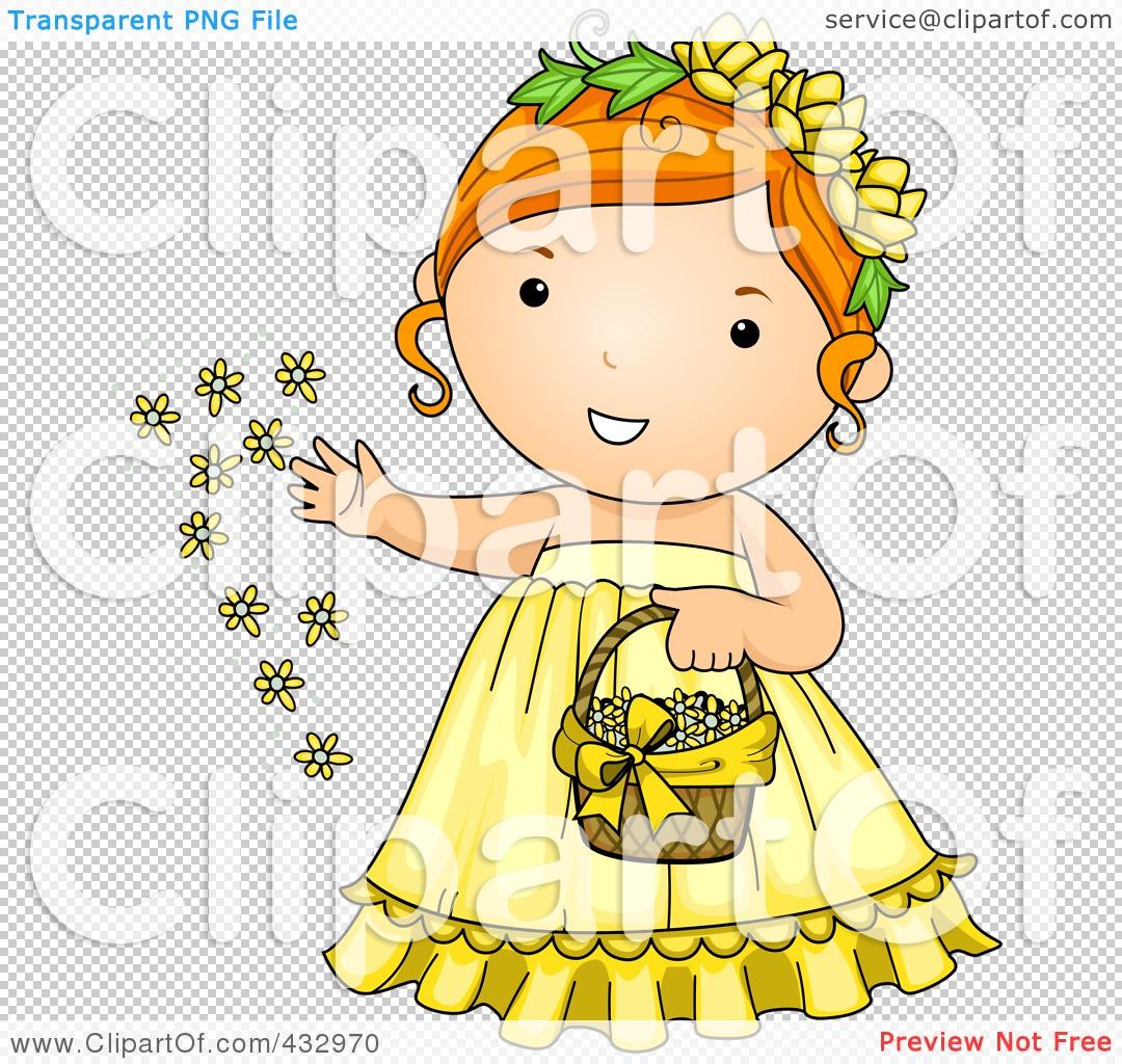 flower girl clipart.