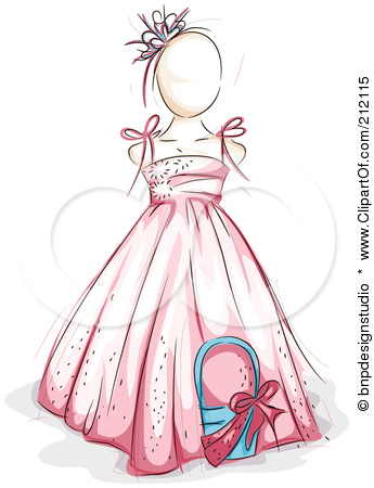 Flower girl dress clipart.