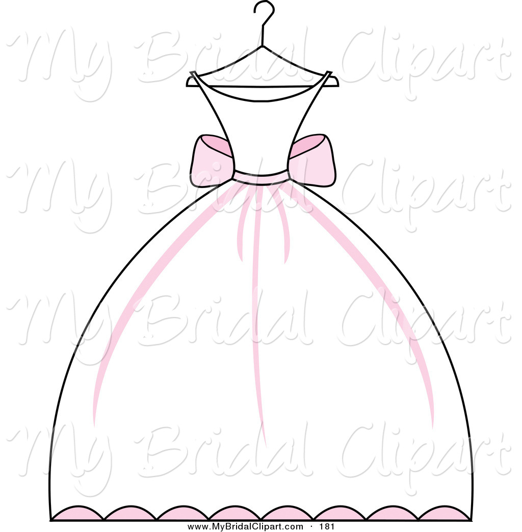 Girl with floral dress clipart.