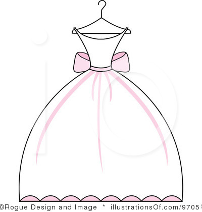 Flower girl dress clipart.