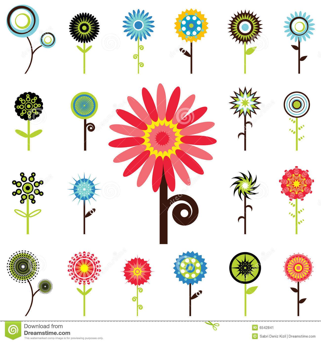 Flower Graphics Stock Image.