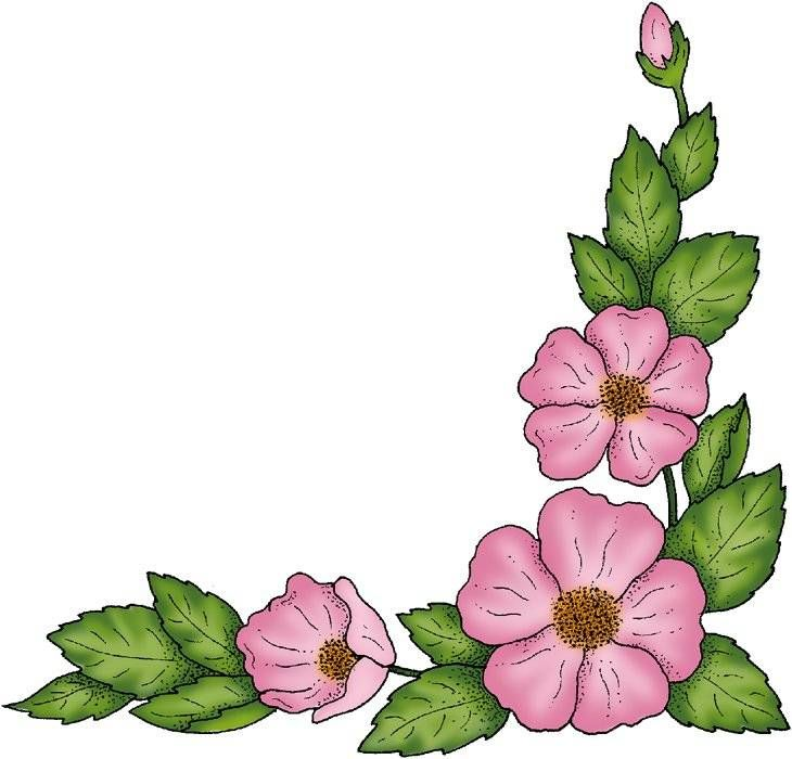Free Painted Flower Graphics.