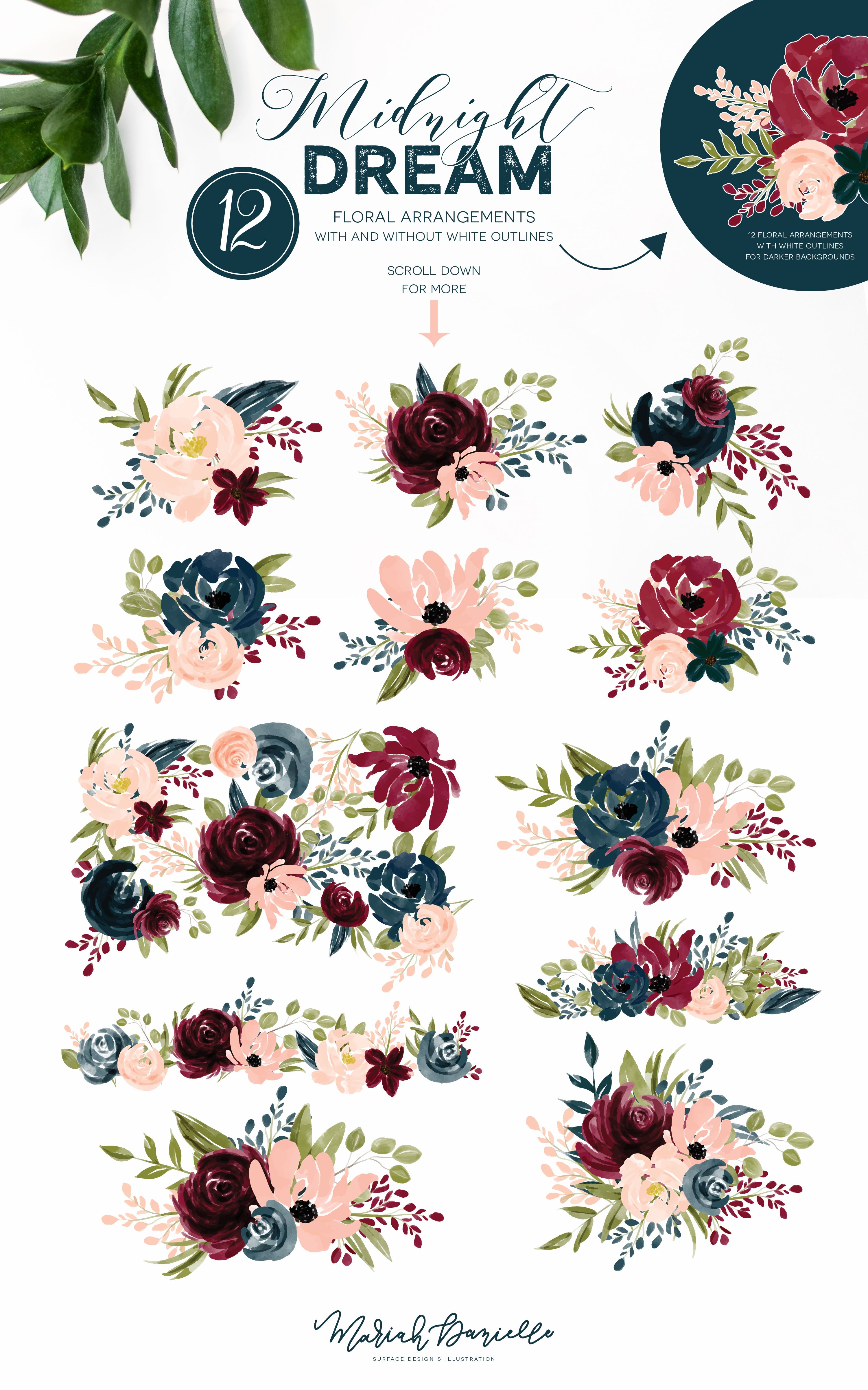 flower graphic clipart #6