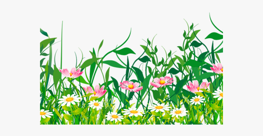 Ground Clipart Grass Flower.