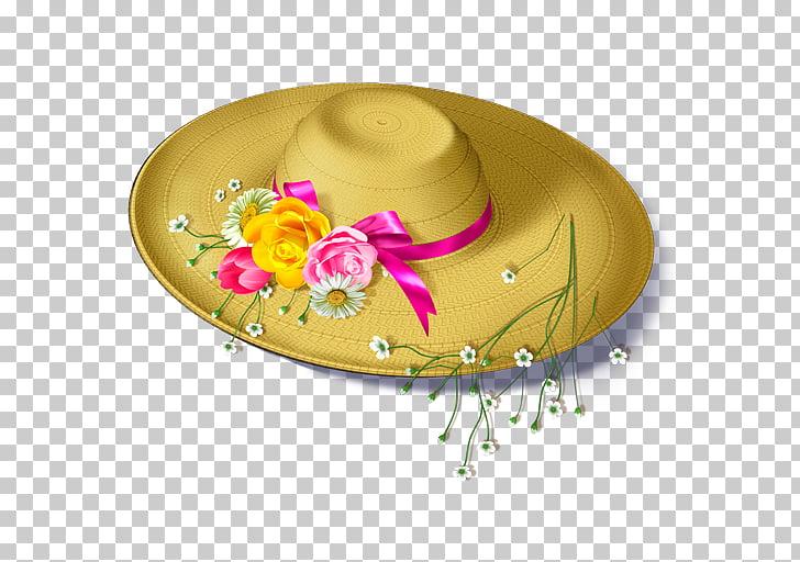 Flower Hat Floral design, Flowers Hats PNG clipart.