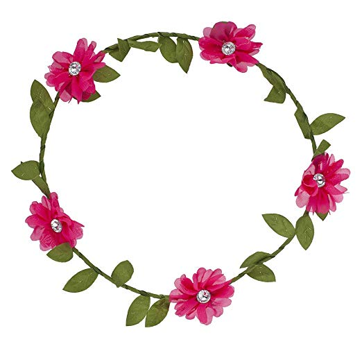 Lux Accessories Bright Colorful Chiffon Flower Flower Crown Floral Headband.