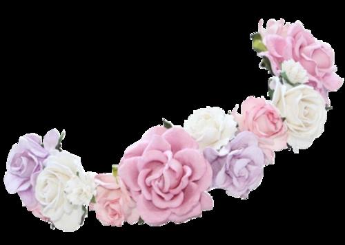 transparent flower crown.